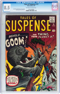 Silver Age (1956-1969):Horror, Tales of Suspense #15 (Marvel, 1961) CGC VF+ 8.5 Off-white to whitepages....