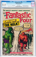 Silver Age (1956-1969):Superhero, Fantastic Four #12 (Marvel, 1963) CGC VF 8.0 White pages....