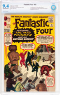 Silver Age (1956-1969):Superhero, Fantastic Four #15 (Marvel, 1963) CBCS NM 9.4 Off-white to whitepages....