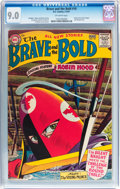 Silver Age (1956-1969):Adventure, The Brave and the Bold #10 Robin Hood (DC, 1957) CGC VF/NM 9.0 Off-white pages....