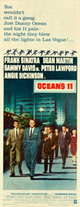 "Movie Posters:Crime, Ocean's 11 (Warner Brothers, 1960). Insert (14"" X 36"").. ..."