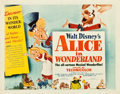 "Movie Posters:Animation, Alice in Wonderland (RKO, 1951). Half Sheet (22"" X 28"") Style A....."