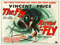 "The Fly/Return of the Fly (Grand National, R-1960s). British Quad (30"" X 40"")"
