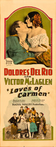 "Movie Posters:Romance, Loves of Carmen (Fox, 1927). Insert (14"" X 36"").. ..."