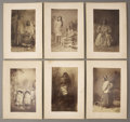 Photography:Cabinet Photos, LOT OF SIX A. F. RANDALL. ARIZONA TERRITORY, GERONIMO'S BAND,APACHE PHOTOS 1880s: Apache Chiricahua. (6) Imperial size c...(Total: 1 Item)