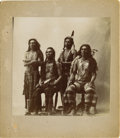 American Indian Art:Photography, FOUR FLATHEAD (SALISH) MEN. c. 1895. ...
