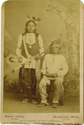 Photographs, RUNNING BEAR AND CROW MAN, LOWER YANKTONAI SIOUX CHIEFS ON THE CROW CREEK RESERVATION, D.T.. . c. 1885. ...