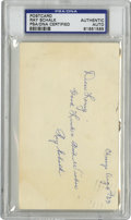 Autographs:Post Cards, 1963 Ray Schalk Signed Government Postcard, PSA Authentic. The Hallof Fame backstop Ray Schalk holds the distinction of be...