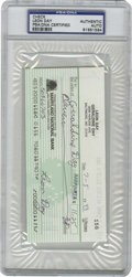 Autographs:Checks, Leon Day Signed Check, PSA Authentic. This personal check dated1993 wears the perfect ink signature of Hall of Famer and N...