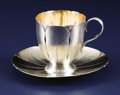 Silver Holloware, American:Cups, An American Silver Cup and Saucer. George W Shiebler & Co., NewYork, New York. Circa 1880. Silver and silver gilt. Marks:...(Total: 2 Items)