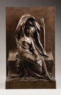 19th Century European, La Junesse. . Henri Michel Antoine Chapu, French(1833-1891). Bronze with light brown patination. Incised withartis...