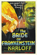 "Movie Posters:Horror, The Bride of Frankenstein (Universal, 1935). One Sheet (27"" X 41"")Style D. ..."