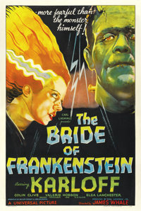 "The Bride of Frankenstein (Universal, 1935). One Sheet (27"" X 41"") Style D"