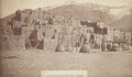 Photography:Cabinet Photos, LOS PUEBLOS DE TAOS, NEW MEXICO PHOTOGRAPH 1880-1890 Santa Fe Routephotograph of Indian Pueblo in Taos, New Mexico. Printe... (Total:1 Item)