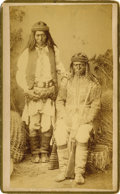 American Indian Art:Photography, BROTHERS, NALT'E AND GUD-IZ-ZAH, WHITE MOUNTAIN APACHE SCOUTS. c.1884. ...