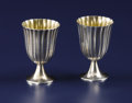 Silver Holloware, American:Cups, A Pair of American Silver Cordial Cups. Tiffany & Co., NewYork, New York. Circa 1930. Silver and silver gilt. Marks:TI...