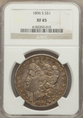 Morgan Dollars: , 1896-S $1 XF45 NGC. NGC Census: (147/1017). PCGS Population (185/1834). Mintage: 5,000,000. Numismedia Wsl. Price for probl...