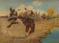 Paintings, ELLING WILLIAM GOLLINGS (American, 1878-1932). Gathering Local Color, circa 1909. Oil on canvas. 26-1/4 x 36-1/4 inches ...
