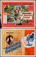 """Movie Posters:Adventure, Adventures of Robinson Crusoe & Other Lot (United Artists,1954). Half Sheets (2) (22"""" X 28"""") Style A. Adventure.. ... (Total:2 Items)"""