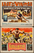 "Movie Posters:Adventure, Goliath and the Barbarians & Other Lot (American International,1959). Half Sheets (2) (22"" X 28""). Adventure.. ... (Total: 2Items)"
