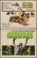 "Movie Posters:Adventure, Hercules in the Haunted World & Other Lot (Woolner Brothers,1964). Half Sheets (2) (22"" X 28""). Adventure.. ... (Total: 2Items)"