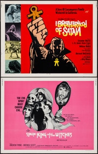 """Simon, King of the Witches & Other Lot (Fanfare, 1971). Half Sheets (2) (22"""" X 28""""). Horror. ... (Total: 2..."""