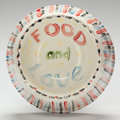 Post-War & Contemporary:Contemporary, DAVID HOCKNEY (British, b. 1937). Untitled (Food and Love),2010. Polychrome glazed earthenware. 11 x 11 x 4 inches (27....