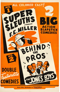 """Super Sleuths/Behind the Pros Combo (Toddy Pictures, 1930s). One Sheet (26.25"""" X 41"""")"""