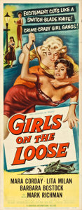 "Movie Posters:Bad Girl, Girls on the Loose (Universal International, 1958). Insert (14"" X36"").. ..."