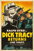 "Movie Posters:Serial, Dick Tracy Returns (Republic, R-1948). One Sheet (27.25"" X 41"")....."