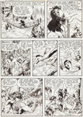 "Original Comic Art:Panel Pages, Frank Frazetta Durango Kid #13 ""The Trail of the Traitor!""White Indian Page 3 Original Art (Magazine Enterprises,..."