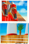 Animation Art:Painted cel background, Moses - The Greatest Adventure: Stories from the BibleEgyptian Scenes Painted Master Background Animation Art Group (...(Total: 2 Original Art)