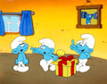 Animation Art:Color Model, Smurfs Jokey, Harmony, and Grouchy Smurf Color ModelAnimation Art (Hanna-Barbera, 1983)....