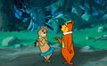 "Animation Art:Color Model, ""Hey There, It's Yogi Bear"" Yogi and Cindy Bear Color Model and Painted Background Setup Animation Art (Hanna-Barbera,... (Total: 2 Original Art)"