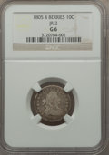 Early Dimes, 1805 10C 4 Berries, JR-2, R.2, Good 6 NGC. NGC Census: (2/229).PCGS Population (0/9). Mintage: 120,780. ...