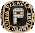 Baseball Collectibles:Others, 1979 Pittsburgh Pirates World Championship Ring Presented to MattAlexander....