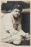 Baseball Collectibles:Photos, 1930's Babe Ruth Signed Photograph by George Burke. ...