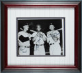 Baseball Collectibles:Photos, Early 1980's Roger Maris, Willie Mays & Mickey Mantle SignedPhotograph....