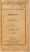 Books:Periodicals, [Periodical] The Southern Quarterly Review, No. XVI.Charleston: Silas Howe, 1845. Modern cloth binding, with or...