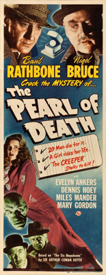 """The Pearl of Death (Universal, 1944). Insert (14"""" X 36"""")"""