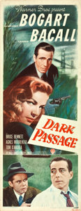 "Movie Posters:Film Noir, Dark Passage (Warner Brothers, 1947). Insert (14"" X 36"").. ..."