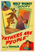"Movie Posters:Animated, Fathers are People (RKO, 1951). One Sheet (27"" X 41"").. ..."