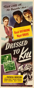 "Movie Posters:Mystery, Dressed to Kill (Universal, 1946). Insert (14"" X 36"").. ..."