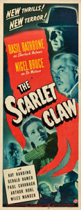 "Movie Posters:Mystery, The Scarlet Claw (Universal, 1944). Insert (14"" X 36"").. ..."