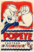 """Movie Posters:Animation, Popeye Stock Poster (Paramount, 1943). Stock One Sheet (27.25"""" X 41"""").. ..."""