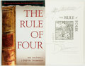 Books:Mystery & Detective Fiction, Ian Caldwell [and:] Dustin Thomason. SIGNED. The Rule of Four. The Dial Press, [2004]. Signed by Ian Caldwell ...