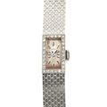 Timepieces:Wristwatch, Longines 14k White Gold & Diamond Wristwatch. ...