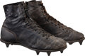Football Collectibles:Others, 1930's Ken Strong Game Worn Cleats - Originally Displayed in Giants Legacy Club. ...