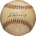 Autographs:Baseballs, 1930's Lou Gehrig Single Signed Baseball....