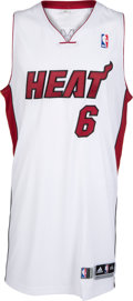 Basketball Collectibles:Uniforms, 2013-14 LeBron James Game Worn Miami Heat Jersey, MEARS A10....